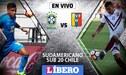 Brasil vs Venezuela EN VIVO ONLINE: fecha 3 del Sudamericano Sub 20 [GUÍA DE CANALES]