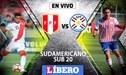 Perú vs Paraguay EN VIVO ONLINE por el Grupo B del Sudamericano Sub 20 desde Talca