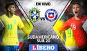 Brasil vs Chile EN VIVO ONLINE por el Sudamericano Sub 20 de Chile