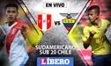 Perú vs Ecuador EN VIVO ONLINE; día, hora y canal por el Sudamericano Sub 20 de Chile