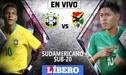 Brasil vs Bolivia EN VIVO │ partido por el grupo A del Sudamericano Sub-20 Chile 2019