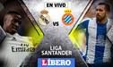 Real Madrid vs Espanyol EN VIVO: partidazo por la jornada 21 de la Liga Santander