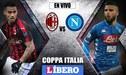 AC Milan vs Napoli EN VIVO por los cuartos de final de la Coppa Italia