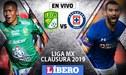Cruz Azul vs León EN VIVO: 'Cementeros' igualan 0-0 en la Liga MX