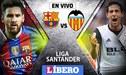 Barcelona vs Valencia EN VIVO EN DIRECTO por la fecha 22 Liga Santander