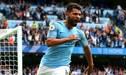 Manchester City, con 'hat trick' de Agüero, derrotó 3-1 al Arsenal por la Premier League
