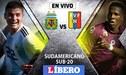 Argentina vs Venezuela Sub-20 EN VIVO: Chocan por el Sudamericano Sub 20