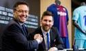 Lionel Messi firmará un nuevo contrato con el Barcelona, asegura el presidente Josep Maria Bartomeu