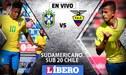 Brasil vs Ecuador EN VIVO: duelo crucial por el Hexagonal Final del Sudamericano Sub 20