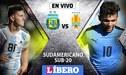 Argentina vs Uruguay Sub-20 por la jornada 4 del Sudamericano Chile 2019