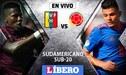 Venezuela vs Colombia EN VIVO: Partido por el Sudamericano Sub-20