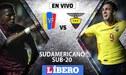 Venezuela vs Ecuador EN VIVO: Se enfrentan por el Hexagonal Final del Sudamericano Sub-20