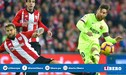 Barcelona igualó 0-0 con el Athletic Bilbao por La Liga Santander