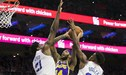 Los Lakers cayeron ante 76ers y complican sus chances en la NBA