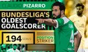 Claudio Pizarro se convierte en el goleador más longevo de la Bundesliga [FOTOS Y VIDEOS]