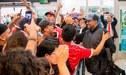Así fue el masivo recibimiento del Caracas FC al llegar a Lima [VIDEO]