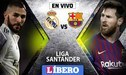 Real Madrid vs Barcelona EN VIVO: clásico español por la fecha 26 de la Liga Santander