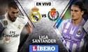 Real Madrid empata 1-1 ante Valladolid EN VIVO: Con Karim Benzema por la Liga Santander
