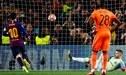 Barcelona goleó 5-1 al Lyon y clasificó a los cuartos de final de la Champions League