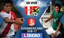 Perú vs Bolivia EN VIVO: fecha, hora y canal por el Sudamericano Sub 17