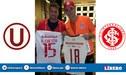 ¿La bendición? Germán Denis visitó al Inter antes de enfrentar a Alianza Lima y regaló camiseta crema