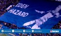 Espectacular mosaico de la hinchada del Chelsea a Hazzard en el partido ante el Frankfurt