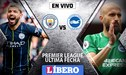 Manchester City vs Brighton EN VIVO: 'Citizens' buscan quedarse con el título de la Premier League