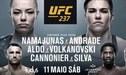 ► Aquí UFC EN VIVO   Namajunas vs Andrade: ¿A qué hora y en qué canal se podrá ver hoy el evento del UFC 237?   Guía TV