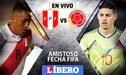 Perú vs Colombia [EN VIVO] Hora, canal y alineaciones de amistoso internacional