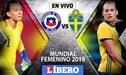 Chile vs Suecia EN VIVO vía Directv Sports por el Mundial Femenino Francia 2019