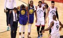 Warriors vs Raptors: Kevin Durant se retiró en muletas en el game 5 de la NBA Finals [VIDEO]