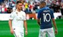 Hinchas del Real Madrid piden fichaje de Mbappé en presentación de Eden Hazard