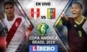 América TV GO [EN VIVO] Perú vs Venezuela por Copa América 2019