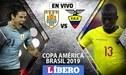 Uruguay vs Ecuador EN VIVO por la jornada 1 del Grupo C de la Copa América 2019