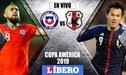 Chile vs Japón [EN VIVO]: 'La Roja' gana 1-0 por el Grupo C en la Copa América 2019