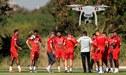 Selección Peruana fue espiada por un drone durante los entrenamientos en Pacaembú