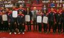 ¡Orgullo! Selección de vóley fue reconocida en el Congreso por logros en la Copa Panamericana [VIDEO]