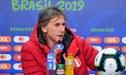 """Gareca sobre subcampeonato en la Copa América 2019: """"Espero que lo conseguido no nos confunda"""""""
