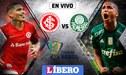 ONLINE Internacional vs Palmeiras [EN VIVO] por el pase a la semifinales Copa de Brasil