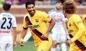 Barcelona goleó 4-0 a Napoli con doblete de Luis Suárez y un tanto de Griezmann