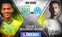Nantes vs Olympique Marsella EN VIVO con Cristian Benavente, 0-0 igualan en la Ligue 1