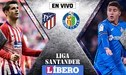 ESPN [EN VIVO] Atlético Madrid vs Getafe: 'Colchoneros' empatan 0-0 por la Liga Santander
