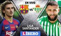 Barcelona vs Betis [EN VIVO] 0-1 en directo por la Liga Santander