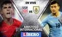 Estados Unidos vs Uruguay EN VIVO en amistoso internacional por fecha FIFA