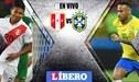 EN VIVO Perú vs Brasil: hora, día y canal del amistoso internacional