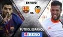 Barcelona vs Valencia EN VIVO por la jornada cuatro de la liga española