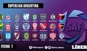 Superliga Argentina EN VIVO: Programación, canales y tabla de posiciones de la fecha 7