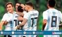 Argentina: conoce el once de la Albiceleste que enfrentará a Alemania