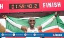 Revive el momento cuando Eliud Kipchoge logró el récord mundial de maratón [VÍDEO]