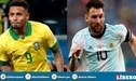 Ver TyC Sports EN VIVO, Argentina 0-0 Brasil [EN VIVO] Con Messi, ver GRATIS Fecha FIFA 2019